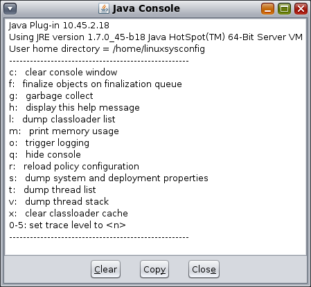 How to enable Java console on Linux | linuxsysconfig