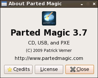 Parted Magic 3.7