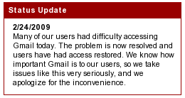 Gmail issues resolved