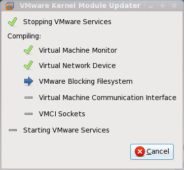 VMware Workstation autocompiling kernel modules