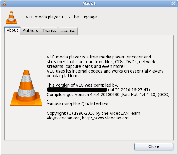 Compile VLC 1 1 2 on Fedora 13 | linuxsysconfig
